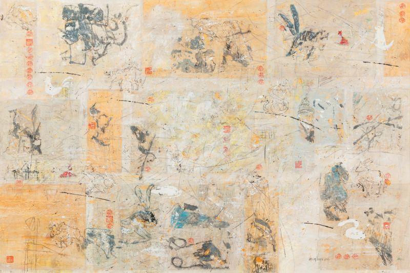 Nirvana, 100 x 160 cm, mixed media on canvas, 2014