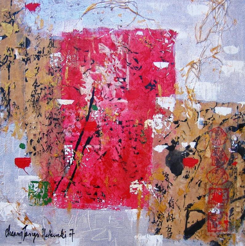 Temptation III, mixed media on canvas, 2007