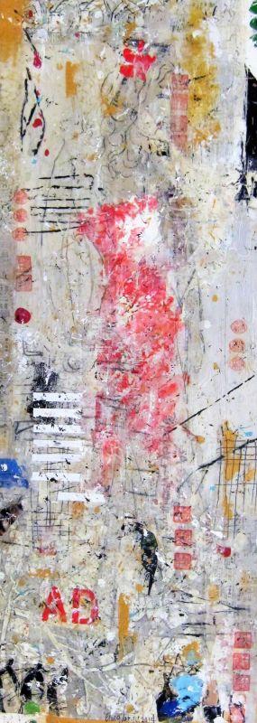 Cosmopolitan Girl II, mixed media on canvas, 2015