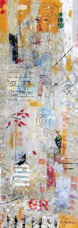 Cosmopolitan Girl III, mixed media on canvas, 2015