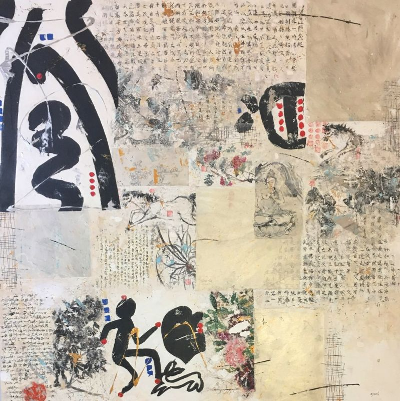 Perception, mixed media on canvas, 180 x 180 cm, 2016