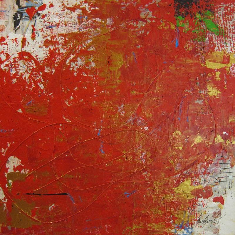 Symphony, mixed media on canvas, 2015