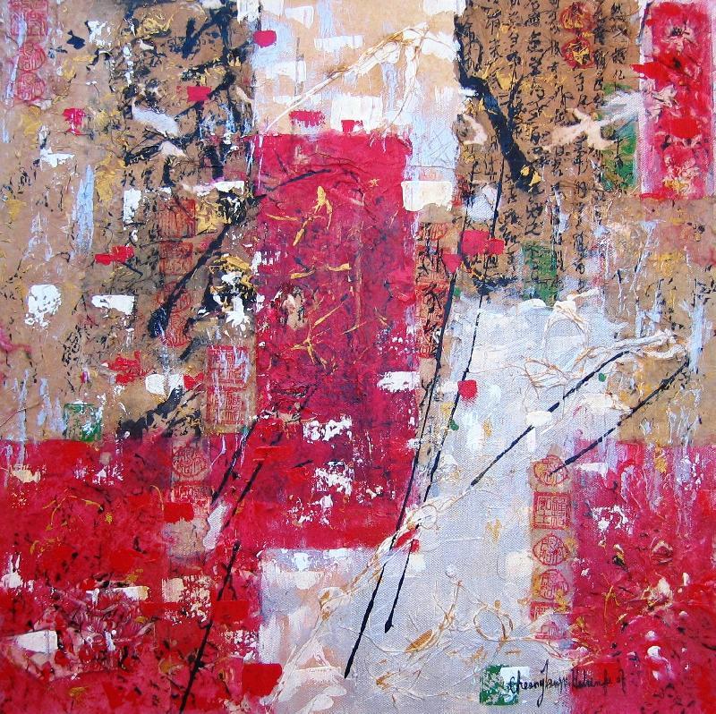 Temptation I, mixed media on canvas, 2007