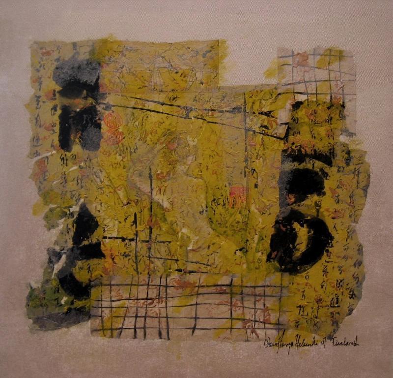 Nude v, mixed media on canvas, 2007