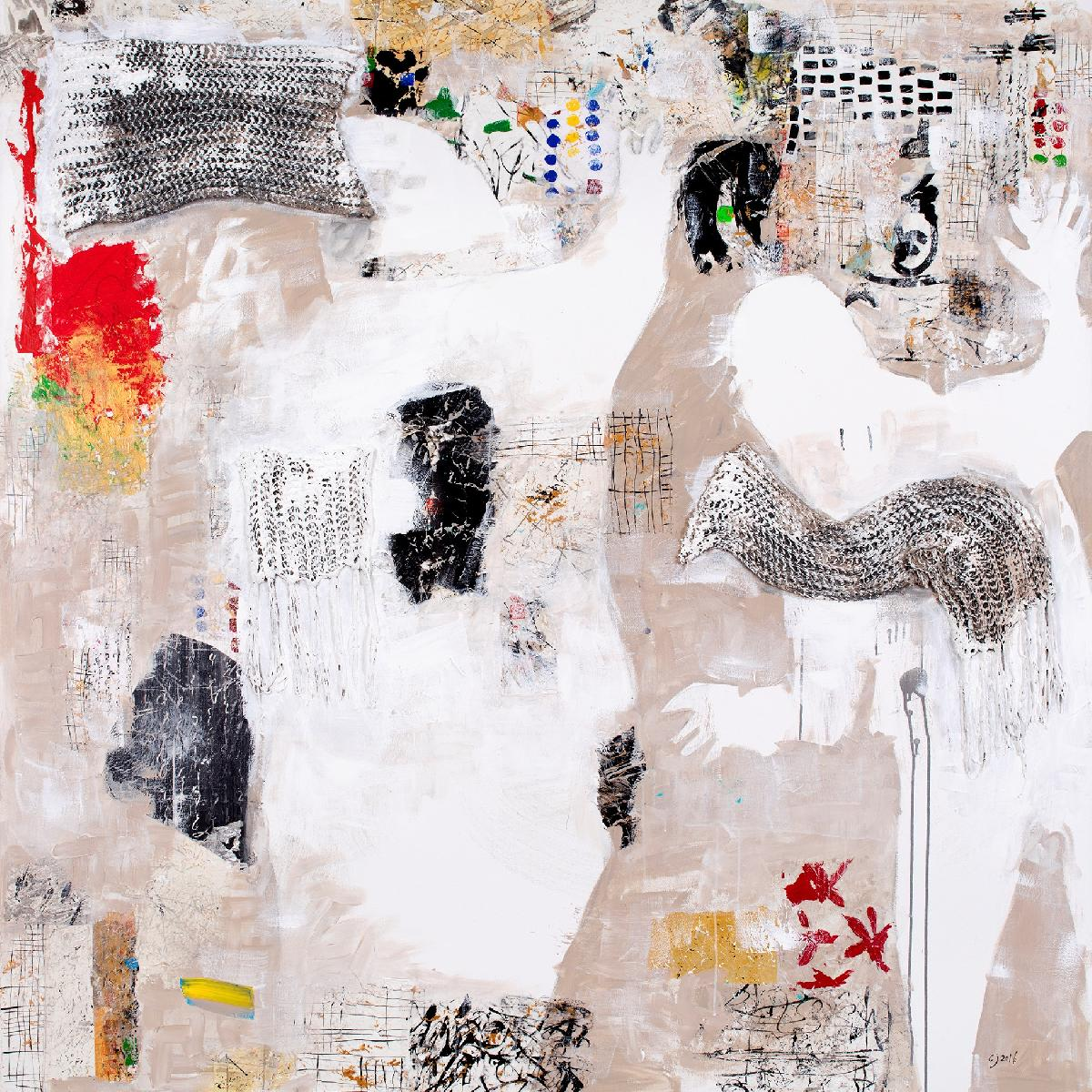 Canal Cheong Jagerroos, The Charm Of An Angel, 180 x 180 cm, mixed media on canvas.jpg